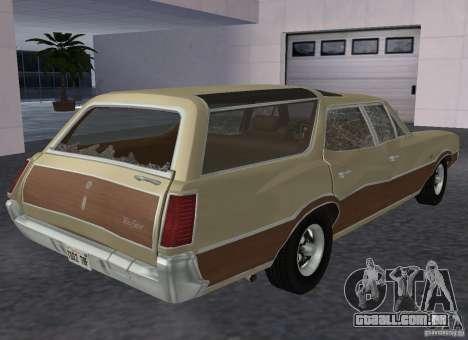 Oldsmobile Vista Cruiser 1972 para GTA San Andreas vista direita