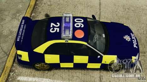 Subaru Impreza British ANPR [ELS] para GTA 4 vista direita