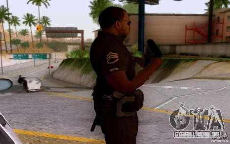 Um policial de CoD: BO2 para GTA San Andreas terceira tela