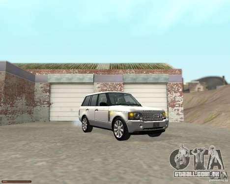 Land Rover Range Rover Supercharged 2008 para GTA San Andreas vista traseira