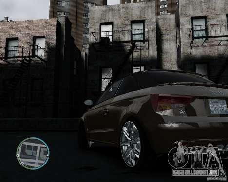 Audi A1 v.2.0 para GTA 4 vista de volta