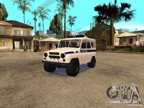 Polícia UAZ para GTA San Andreas