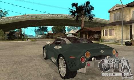 Spyker C8 Laviolete para GTA San Andreas traseira esquerda vista