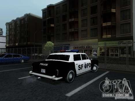 Stafford Police SF para GTA San Andreas traseira esquerda vista