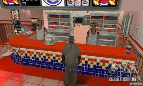 Restaurantes McDonals para GTA San Andreas quinto tela