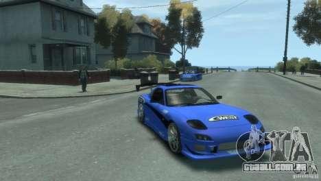 Mazda Rx7 C-WEST para GTA 4 esquerda vista