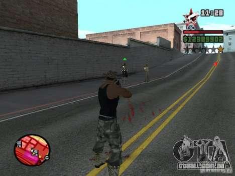 San Fierro and Los Santos Gang Zone para GTA San Andreas por diante tela
