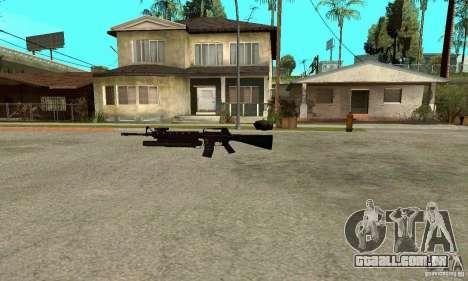 M16A4 + M203 para GTA San Andreas segunda tela