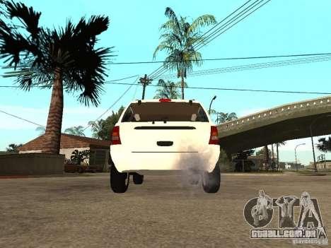 Jeep Grand Cherokee 99 para GTA San Andreas traseira esquerda vista