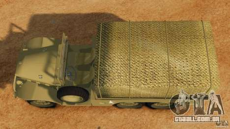 Dodge WC-62 3 Truck para GTA 4 vista direita