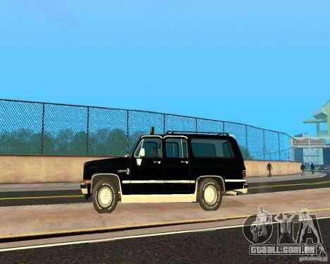 Сhevrolet 1986 Suburban para GTA San Andreas esquerda vista