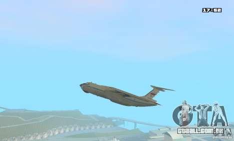 Ilyushin Il-76 MD para GTA San Andreas traseira esquerda vista
