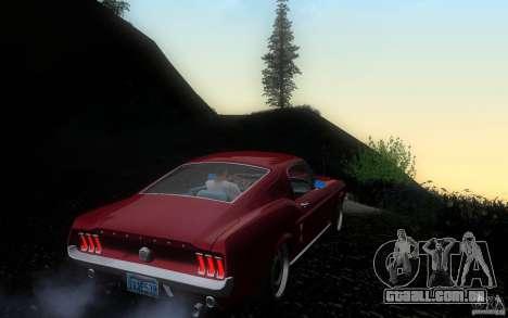 Ford Mustang 1967 American tuning para GTA San Andreas vista direita