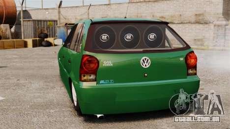 Volkswagen Gol G4 Edit para GTA 4 traseira esquerda vista