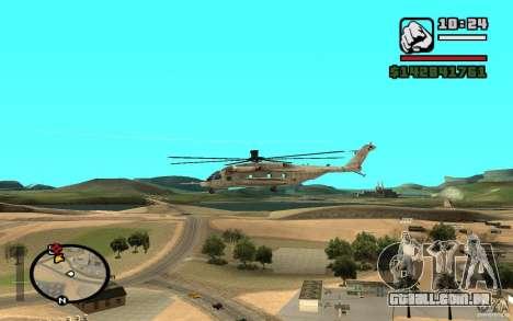 Sikorsky MH-53 com escotilha fechada para GTA San Andreas vista direita