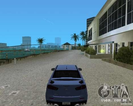 Mitsubishi Lancer Evo X para GTA Vice City vista traseira esquerda