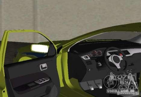 Mitsubishi Lancer Evolution VII para GTA Vice City vista traseira