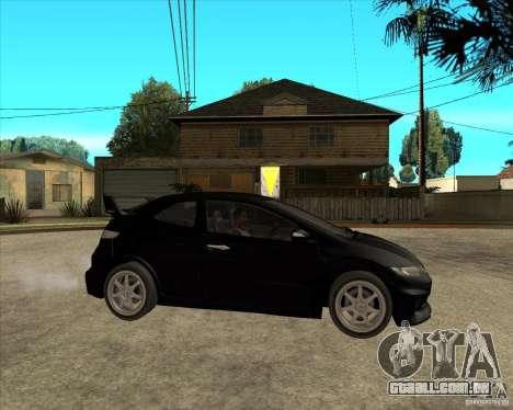 2009 Honda Civic Type R Mugen Tuning para GTA San Andreas vista direita