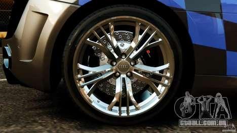 Audi R8 GT Spyder 2012 para GTA 4 vista interior