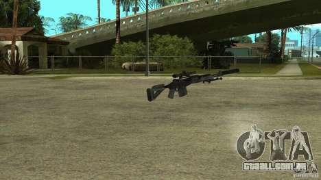 EBR MK14 com silenciador para GTA San Andreas segunda tela