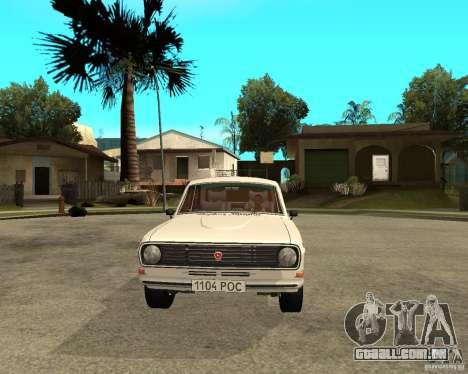 Volga Gaz 24-10-051 para GTA San Andreas vista traseira