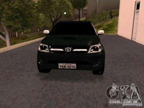Toyota Hilux SRV 3.0 4X4 Automatica para GTA San Andreas vista traseira