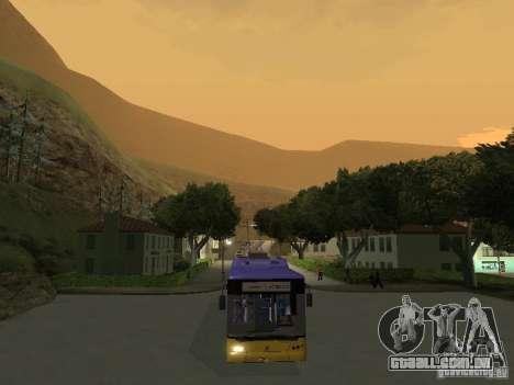 Trólebus LAZ e-183 para GTA San Andreas vista direita