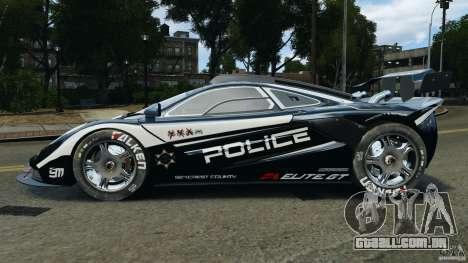 McLaren F1 ELITE Police [ELS] para GTA 4 esquerda vista