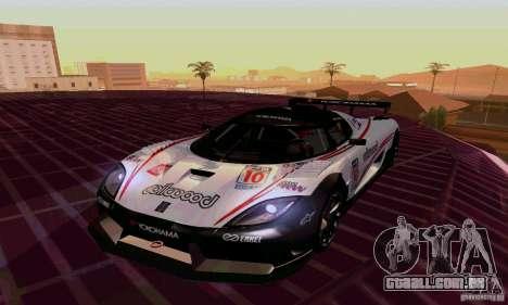 Koenigsegg Agera R para GTA San Andreas vista interior