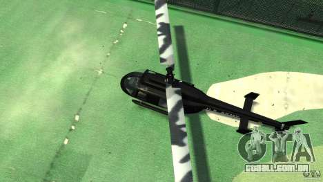 Black U.S. ARMY Helicopter v0.2 para GTA 4 vista interior