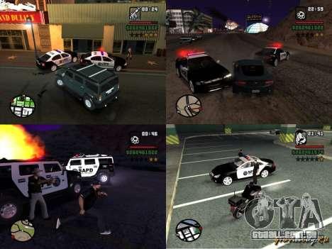 GTA San Andreas SAPD POLICE PACK para GTA San Andreas esquerda vista