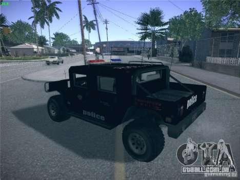 Hummer H1 1986 Police para GTA San Andreas esquerda vista
