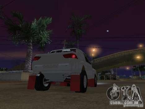 Mitsubishi L200 Triton para GTA San Andreas traseira esquerda vista