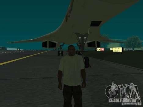 A -160 para GTA San Andreas traseira esquerda vista