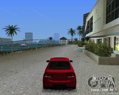 Kia Forte Coupe para GTA Vice City deixou vista