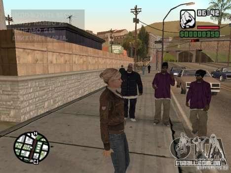 Lucy Stillman in Assassins Creed Brotherhood para GTA San Andreas por diante tela