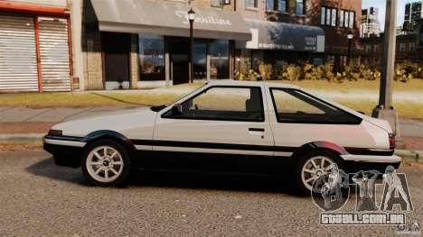 Toyota Sprinter Trueno GT 1985 Apex [EPM] para GTA 4 esquerda vista