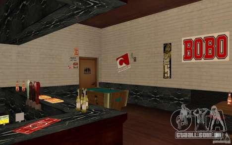 Um novo bar em Gantone v. 2 para GTA San Andreas quinto tela
