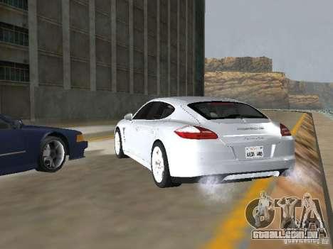 Porsche Panamera Turbo Tunable para GTA San Andreas esquerda vista