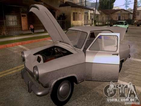 GAZ 21 Volga para GTA San Andreas vista interior