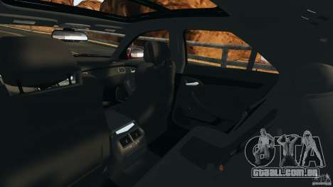 Cadillac CTS-V 2009 para GTA 4 vista interior