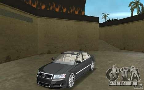 Audi A8 para GTA Vice City deixou vista