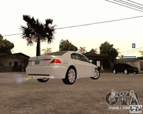 BMW 760i para GTA San Andreas esquerda vista