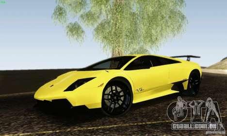 Lamborghini Murcielago LP 670-4 SV para GTA San Andreas esquerda vista