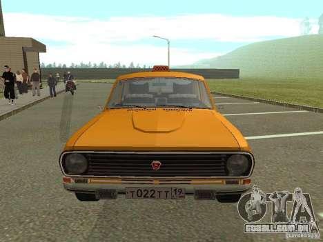 Táxi de Volga GAZ 24-10 para GTA San Andreas vista traseira