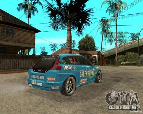 VOLVO C30 STCC para GTA San Andreas traseira esquerda vista