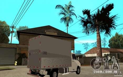 Mercedes-Benz Sprinter Truck para GTA San Andreas vista direita