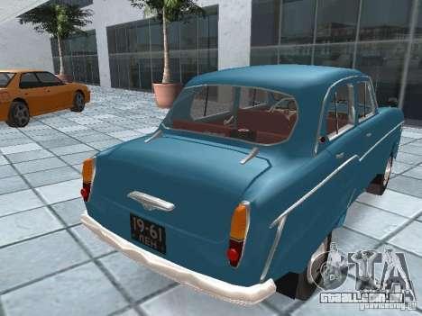 Moskvich 403 para GTA San Andreas traseira esquerda vista