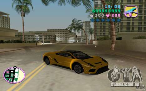 Saleen S5S Raptor para GTA Vice City vista traseira esquerda