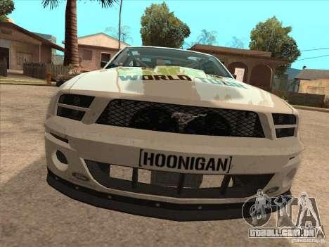 Ford Mustang Ken Block para GTA San Andreas vista direita